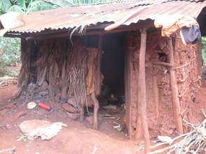 Typical shelter for grannies in rural Uganda