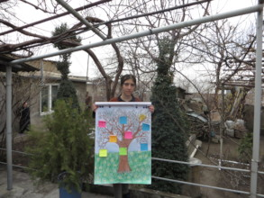 Mary shows the problems on the tree