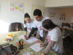 Participants are presented their work