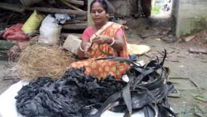 Her old job was pulling copper wire from tyres