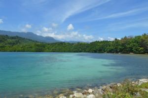 Danu Bay where locals gather marine protein