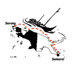 The Wairon's  Sorong to Samarai Canoe Voyage