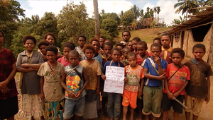 Tangu Primary School students take a stand.