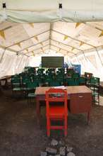 This temporary classroom won't last for long