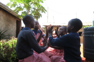 Playtime at the Transitional School.