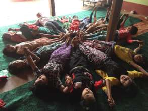 Yoga Training in Local village