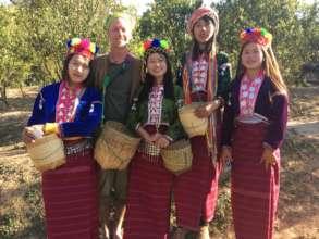 Celebrating the ethnic diversity of the girls
