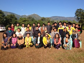 Training in Upper Myanmar-Kachin-knitting hats!!