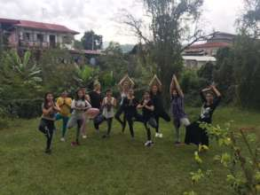 The girls from Yoga and Trauma Healing workshop