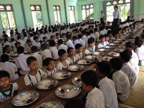 Monastic school in Bago who we work with