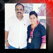 Deepa with founder Girish - her 'father'