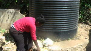 Donated water tank