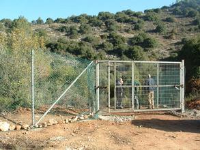 Entrance to acclimatization area at Nahal Soreq