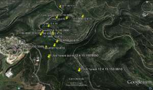 GPS tracking map of released deer