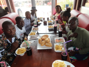 The trip to Tchop and Yamo fast food