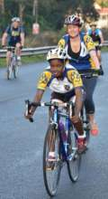 Thulisile enjoying the 35 km cycle race
