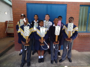 Junior Vocational Group: Proud of their lamps
