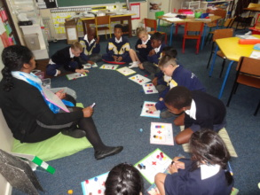 Grade 1 learners hard at work