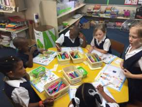 Grade 1 learners enjoying school
