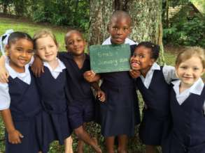 First day Grade 1 learners