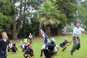 Easter Egg hunt - bunny hop competition