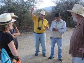 Meeting at Yaguar Xoo with biologists