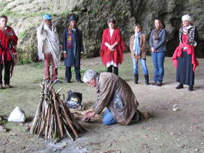 Fire ceremony in Caves of Southern France