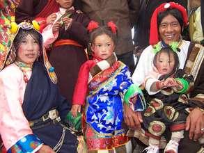 Village leader's family