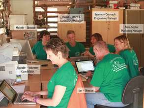 The office team working in the existing office
