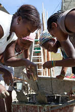 Building eco toilets in Haiti