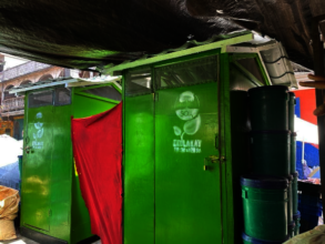 SOIL's public toilets in Cap-Haitien market