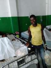 Distributing goods to pediatric ward patients