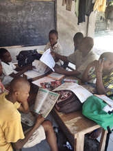 Tutoring session at the Transitional Safehouse