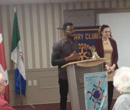 Sharing at Rotary Clubs