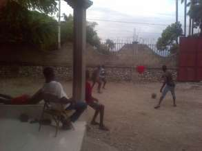 Soccer fun at the Boy's Transitional Safehouse