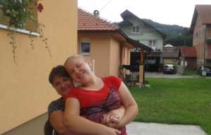 Andjela with her Mom at a weekend break at home
