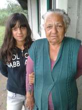 Milica S. with her Grandmother at collective cente