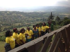 Central African women experiencing Kenyan views