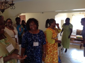 Central African women experiencing the fun of P.Ed