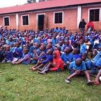 Gladys at school outreach on FGM and child abuse