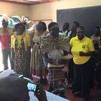 Gladys with clan elders in West Pokot to EndFGM
