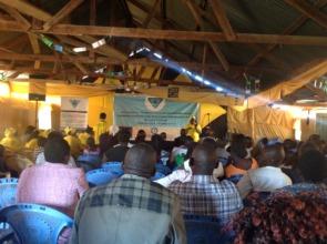 Karen during Community Church Outreach 2017