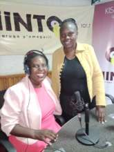 (from left) Dr. Grace Mose and Nancy, presenter