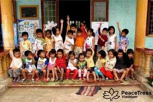 Kindergarten students at the Trieu Dong School