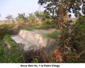 Stone weir 1 in need of repairs