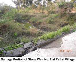 Damaged portion of stone weir 2