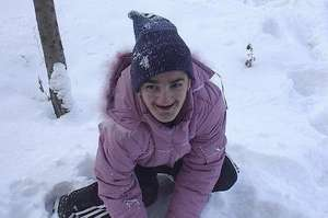 Alina Playing in the Snow