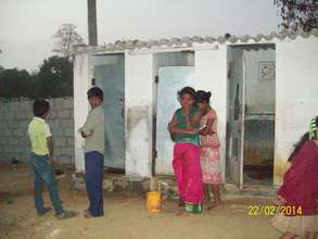 Children Queeing for use toilet