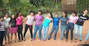 Young people developing a group technique