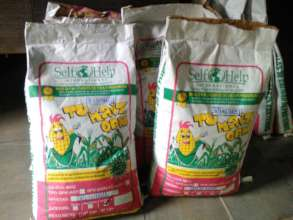 Bags of QPM seed.